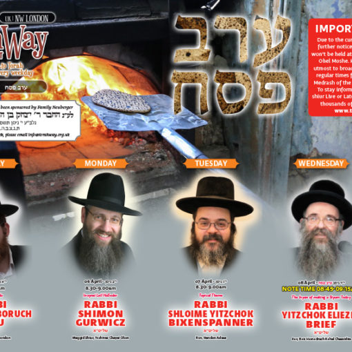 TorahWay NW London Erev Pesach 5780